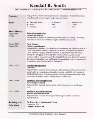 sample resume one general professional