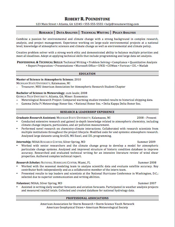 graduate student - Professional Help With Resume
