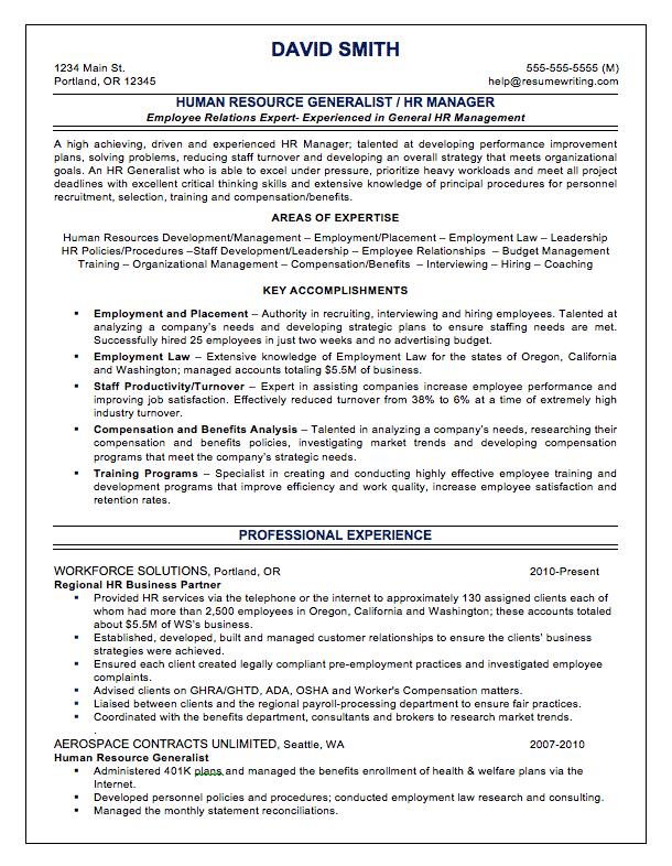 generalist recruiter resume